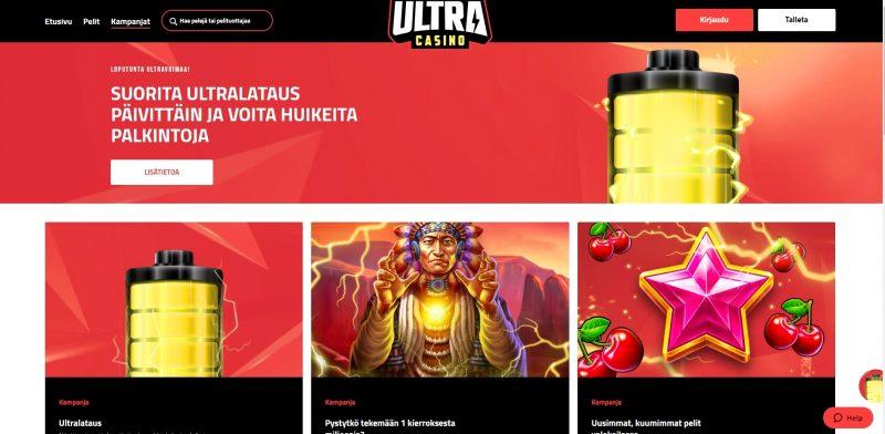 ultra kasino tarjoukset